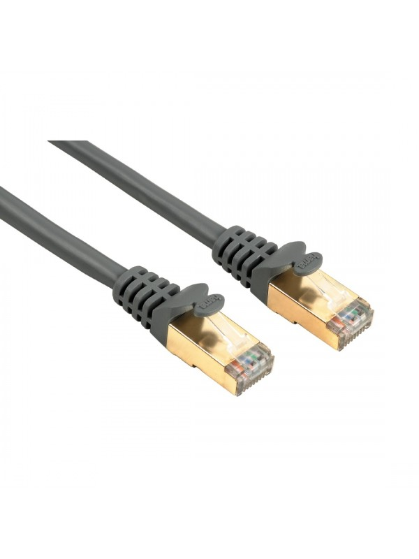 HAMA CAT5E NETWORK CABLE STP SHIELDED GREY 10M