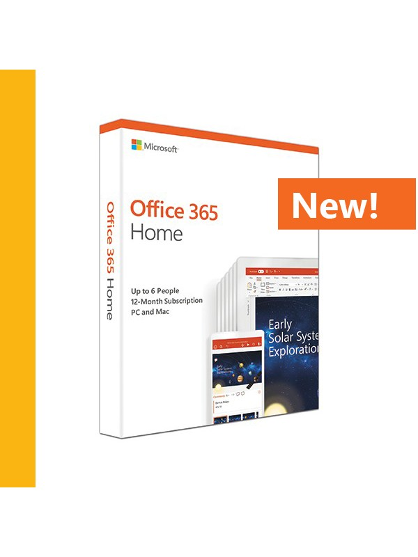 Office 365 Home (Medialess. 1 Year Subscription)