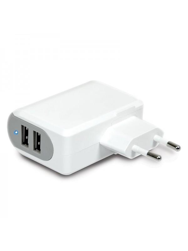 PORT WALL CHARGER 2 USB + 2N1 EU