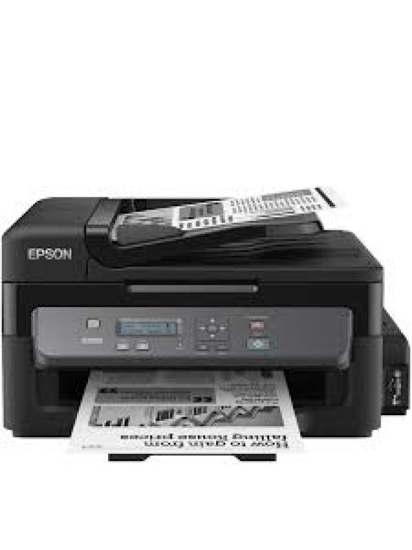 Workforce M200 A4 3-in-1 Mono Inkjet Printer Ethernet connectivity and ADF Printing Speed ISOIEC 24734 1525 pagesmin Monochrome Duty Cycle 5000 pages per month 100SheetsStandard 100Sheetsmaximum Standard ink bottles offer a page yield of 6000 pages Hi Spe