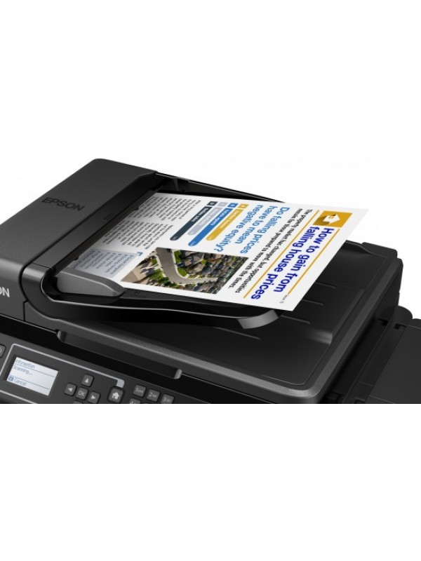 IITS L565 A4 4 in 1 Inkjet Printers Print scan copy and fax Wi-Fi and Ethernet connectivity and easy mobile printing 30 page ADF Printing Speed ISOIEC 24734 92 ppm Mono 45 ppm Colour 69Secondsper 10 x 15 cm photo Epson Premium Glossy Photo Paper 100Sheets