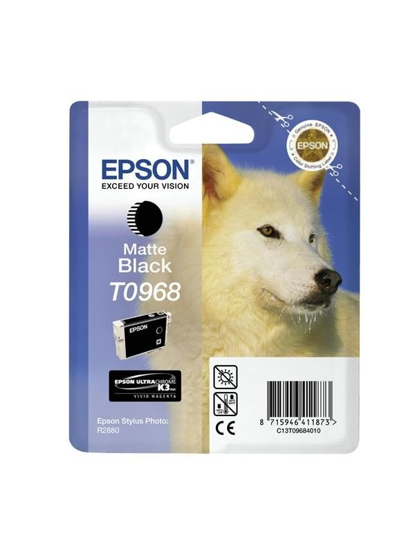EPSON - INK - T0968 - MATT BLACK - RETAIL PACK - STYLUS R2880
