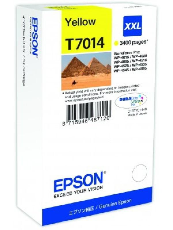 EPSON - INK - WP 4000/4500 SERIES INK XXL CART Y 3.4K