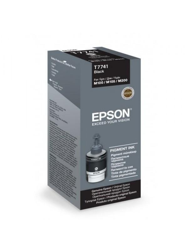 EPSON - INK - BLACK INK BOTTLE T7741 PIGMENT 140ML M100/M105/M200