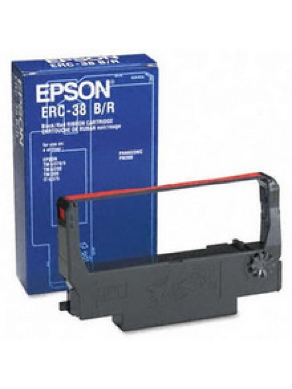EPSON - RIBBON - ERC38BR - RED/BLACK - TMU210 / TM300A / B / C / D