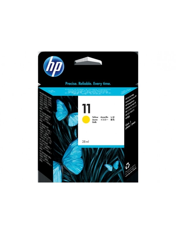 HP # 11 YELLOW INKJET PRINT CARTRIDGE (28 ML) - BUSINESS INKJET 2200 / 2250 / 2250TN / 2600 / COLOR INKJET CP 1700