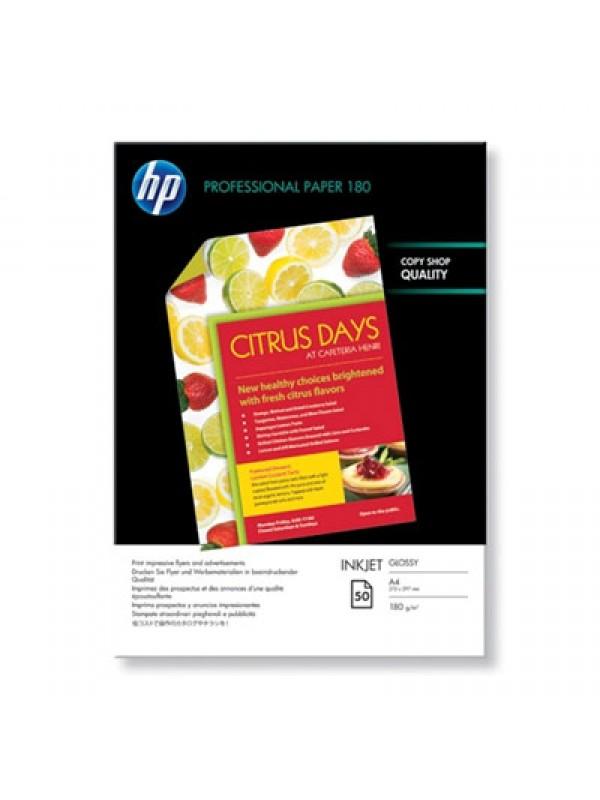 HP PROFESSIONAL GLOSSY INKJET PAPER 180 G/M-50 SHT/A4/210 X 297 MM