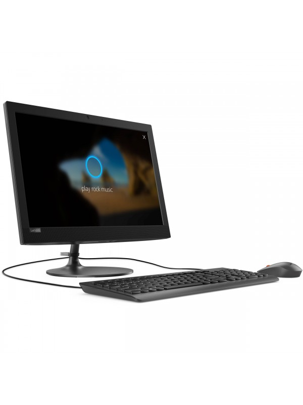 Lenovo Ideacentre 330 AIO 19.5 Inch (1440x900) Non Touch Celeron J4005 4GB 1TB 5400rpm 2.5 DVD-RW 11ac 1x1 + BT4.0 Camera 720p Integrated Intel HD Graphics 600 Mouse and Keyboard Included Windows 10 Home 64 1 Year CIW Black