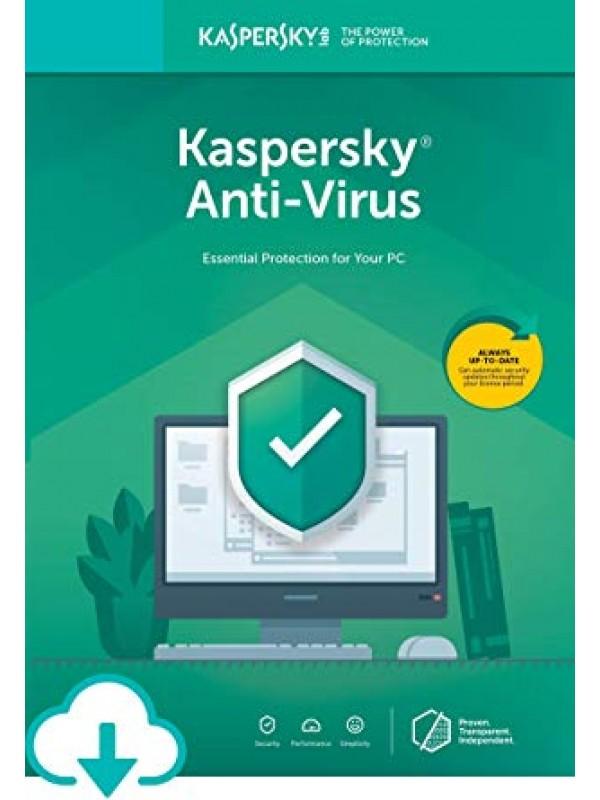 Kaspersky Anti-Virus 2019 3+1 free device 1 year DVD
