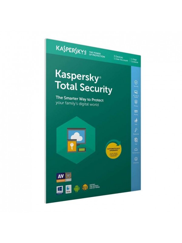 Kaspersky Total Security 2019 3+1 free device 1 year DVD