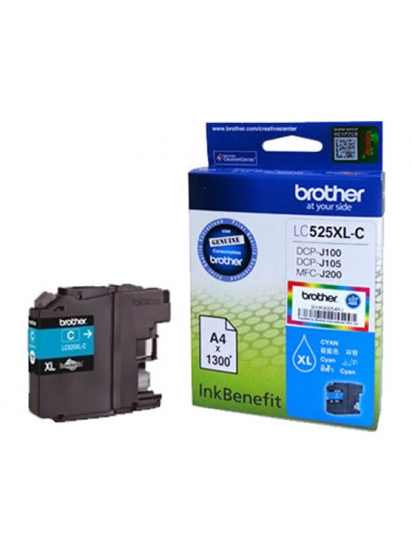 BROTHER HIGH YIELD CYAN INK CARTRIDGE - DCPJ105