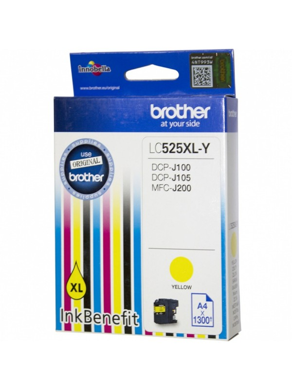 BROTHER HIGH YIELD YELLOW INK CARTRIDGE - DCPJ105