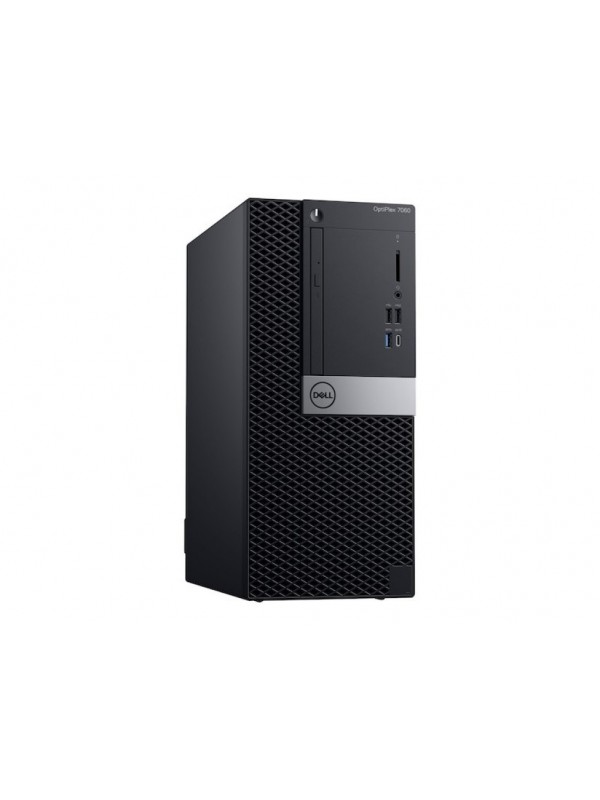 OptiPlex 7060 MT: Intel Core i5-8500 vPro (4.1GHz 9MB) 4GB (1x4GB) DDR4 2666MHz 500GB 3.5 Inch(7200RPM) 16 x DVD +/- RW USB Keyboard and Mouse Windows 10 Professional 3Yr Basic Onsite Service