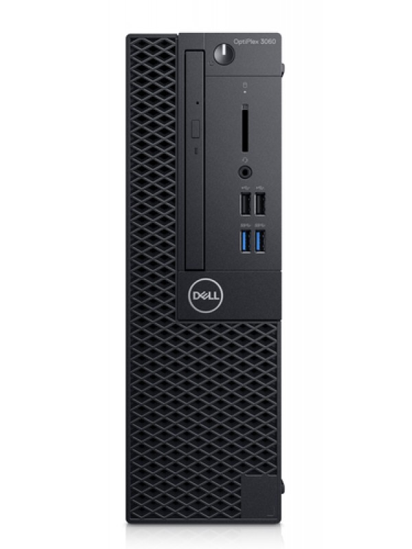 OptiPlex 3060 SFF: I5-8500 (4.1Ghz 9MB) 4GB(1x4GB) DDR4 2666MHz 500GB (7200Rpm) 3.5in Serial ATAII 3Gb/s 16XDVD+/-RW Drive USB Keyboard & mouse Windows 10 Pro 3Yr Basic Onsite Service
