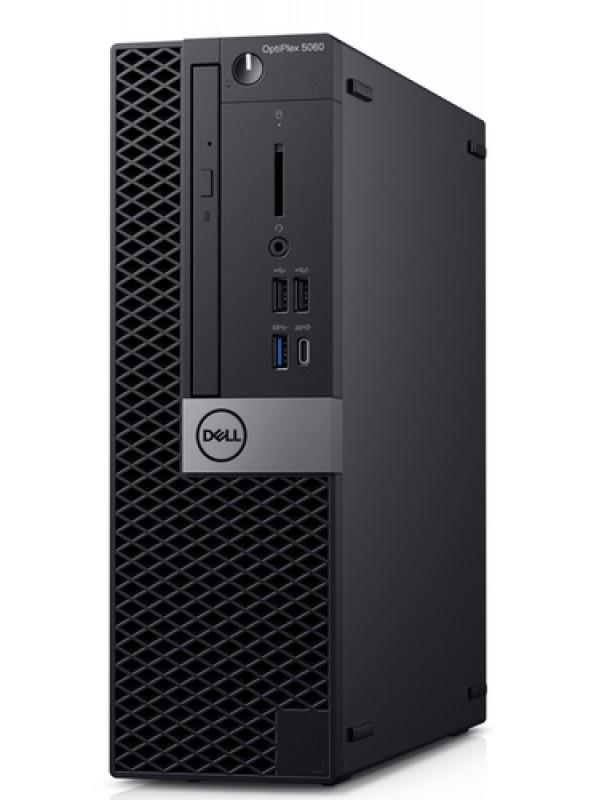 OptiPlex 5060 SFF: i5-8500 (4.1GHz) 8GB (2X4GB) 2666MHz DDR4 1TB 3.5 DVD+/-RW 3 Button Mouse USB Keyboard Windows 10 Professional 3Yr Basic Onsite Service