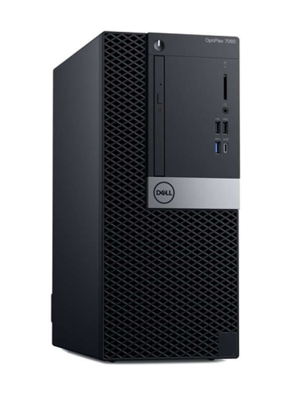OptiPlex 7060 MT: Intel Core i5-8500 (4.1GHz 9MB) 8GB (2x4GB) DDR4 2666MHz 1TB 3.5 Inch(7200RPM) 16 x DVD +/- RW USB Keyboard and Mouse Windows 10 Professional 3Yr Basic Onsite Service