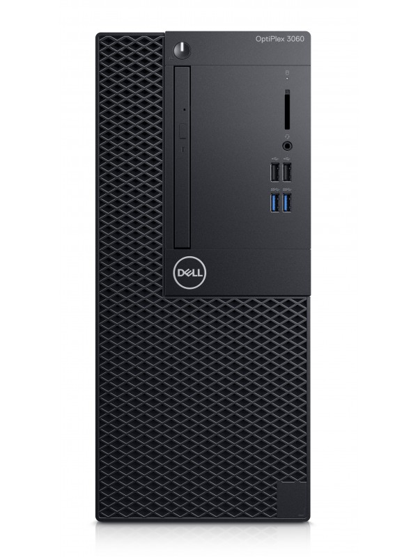OptiPlex 3060 MT: I3-8100 (3.6Ghz 6MB) 4GB(1x4GB) DDR4 2666MHz 1TB (7200Rpm) 3.5in Serial ATAII 3Gb/s 16XDVD+/-RW Drive USB Keyboard & mouse Windows 10 Pro 3Yr Basic Onsite Service