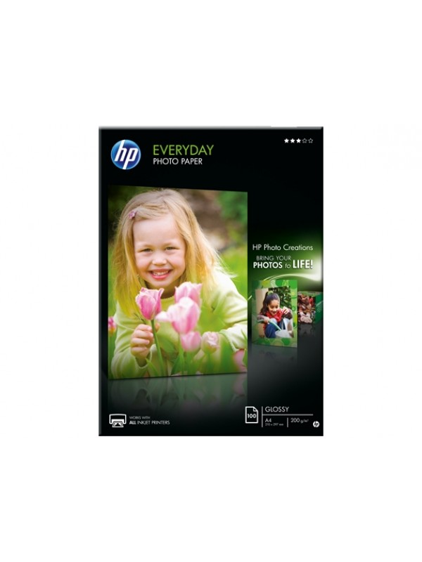 HP EVERYDAY GLOSSY PHOTO PAPER 200 G/M -100 SHT/A4/210 X 297 MM