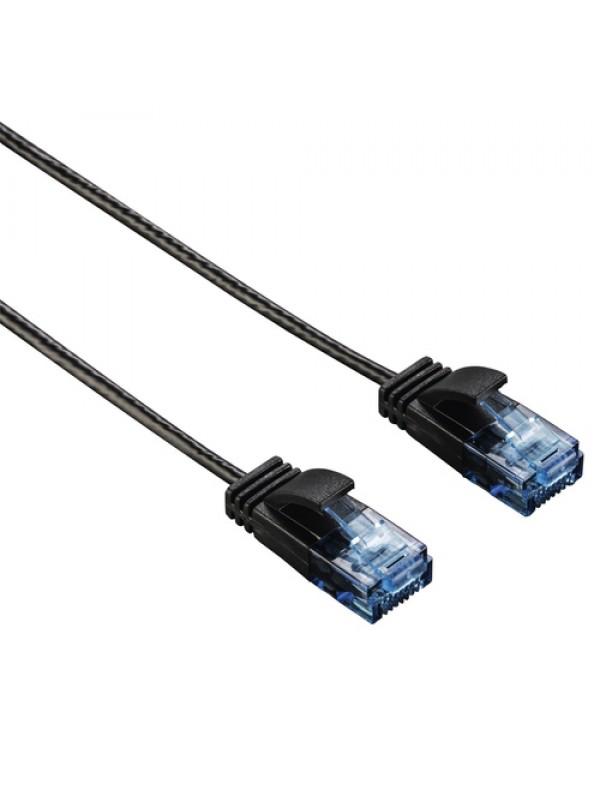 HAMA CAT6 NETWORK CABLE SLIM-FLEXIBLE BLACK 1.5M