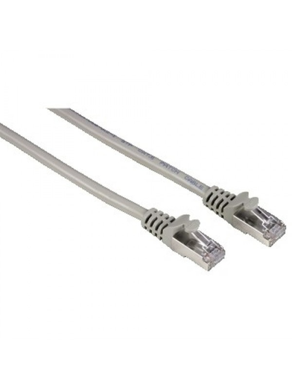 HAMA CAT6 NETWROK CABLE DOUBLE SHIELDED GREY 5M