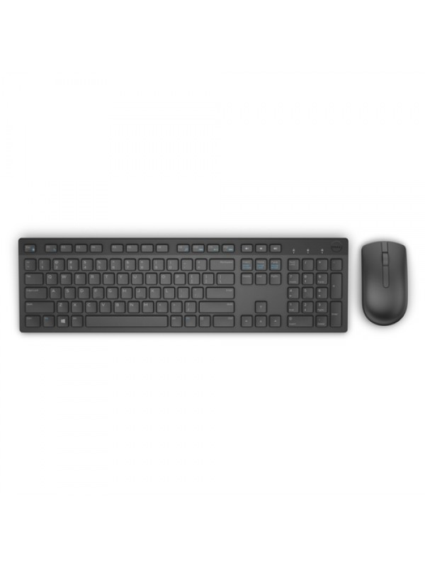 Keyboard & Mouse : US/Euro (QWERTY) KM636 Dell Wireless Keyboard Black & Mouse Black