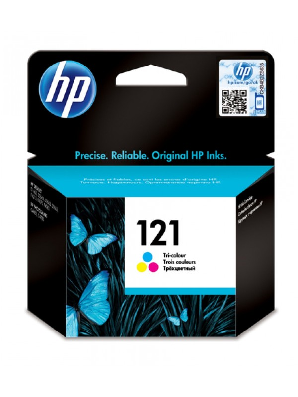 HP # 121 TRI-COLOUR INK CARTRIDGE WITH VIVERA INKS - OfficeJet D2563 D1560