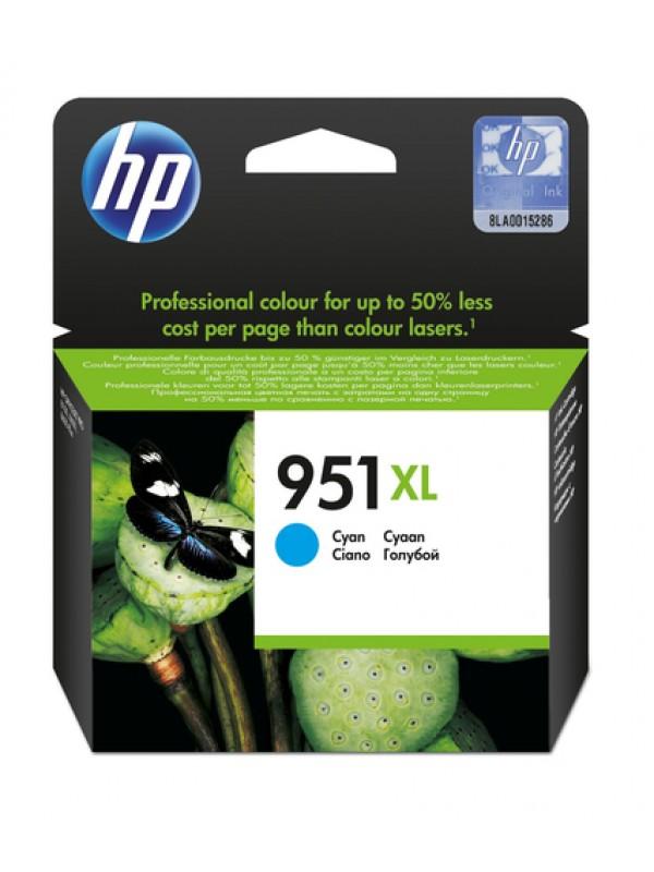 HP # 951XL CYAN OFFICEJET INK CARTRIDGE - OfficeJet Pro 8100 ePrinter series OfficeJet Pro 8600 e-AIO