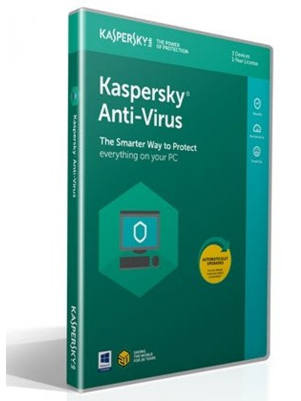 Kaspersky Anti-Virus 2020 3+1 free device 1year Retail