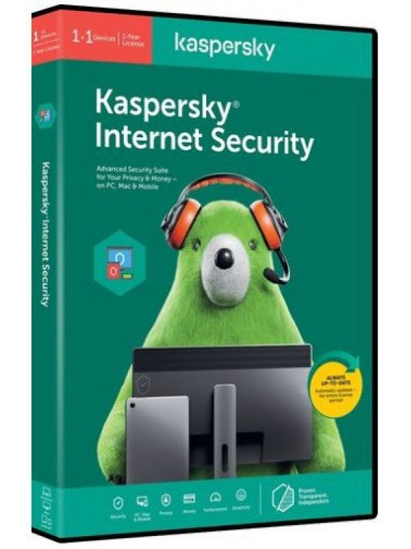 Kaspersky Internet Security 2020 1+1 device 1 year DVD