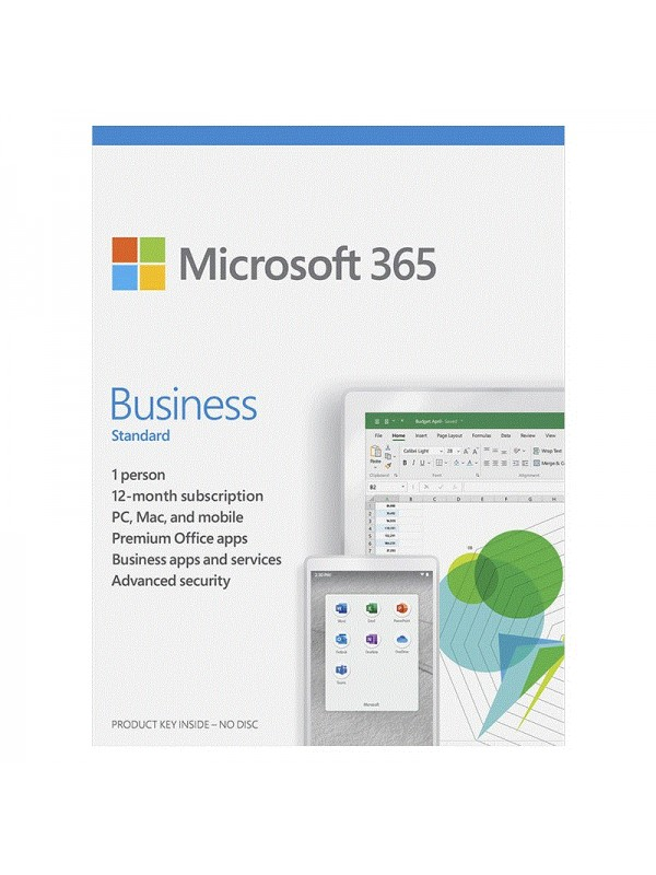 Microsoft 365 Business Standard (Medialess. 1 Yr Subscription)
