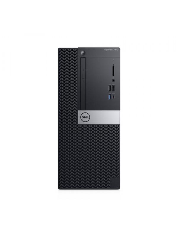 OptiPlex 7070 MT: Intel Core i7-9700 vPro (4.8GHz 12MB) 8GB (1x8GB) DDR4 2666MHz 1TB 3.5 Inch(7200RPM) 16 x DVD +/- RW USB Keyboard and Mouse Windows 10 Professional 3Yr Basic Onsite Service