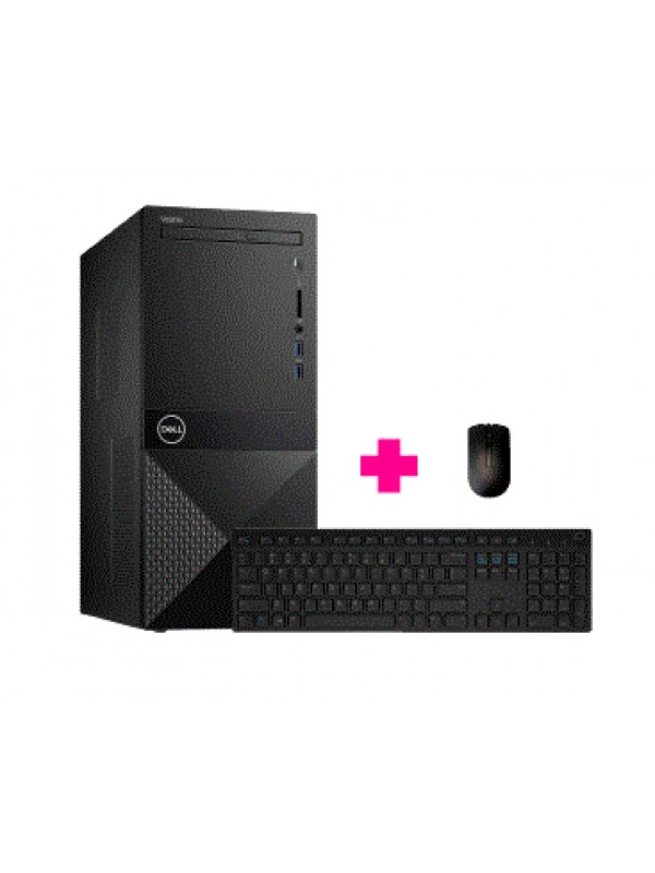Vostro 3671 MT: 9th Gen Intel Core i3-9100 Processor (6MB Cache up to 4.2GHz) 4GB (1x4GB) DDR4 2400MHz 1TB 7200RPM SATA 6Gb/s HDD Tray load DVD Drive (Reads and Writes to DVD) Integrated Graphics Dell Wireless 1707 Card (802.11bgn + Bluetooth 4.0) Dell Wi